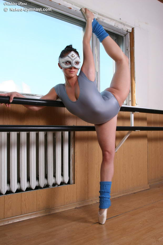 sexy flexible young gymnast
