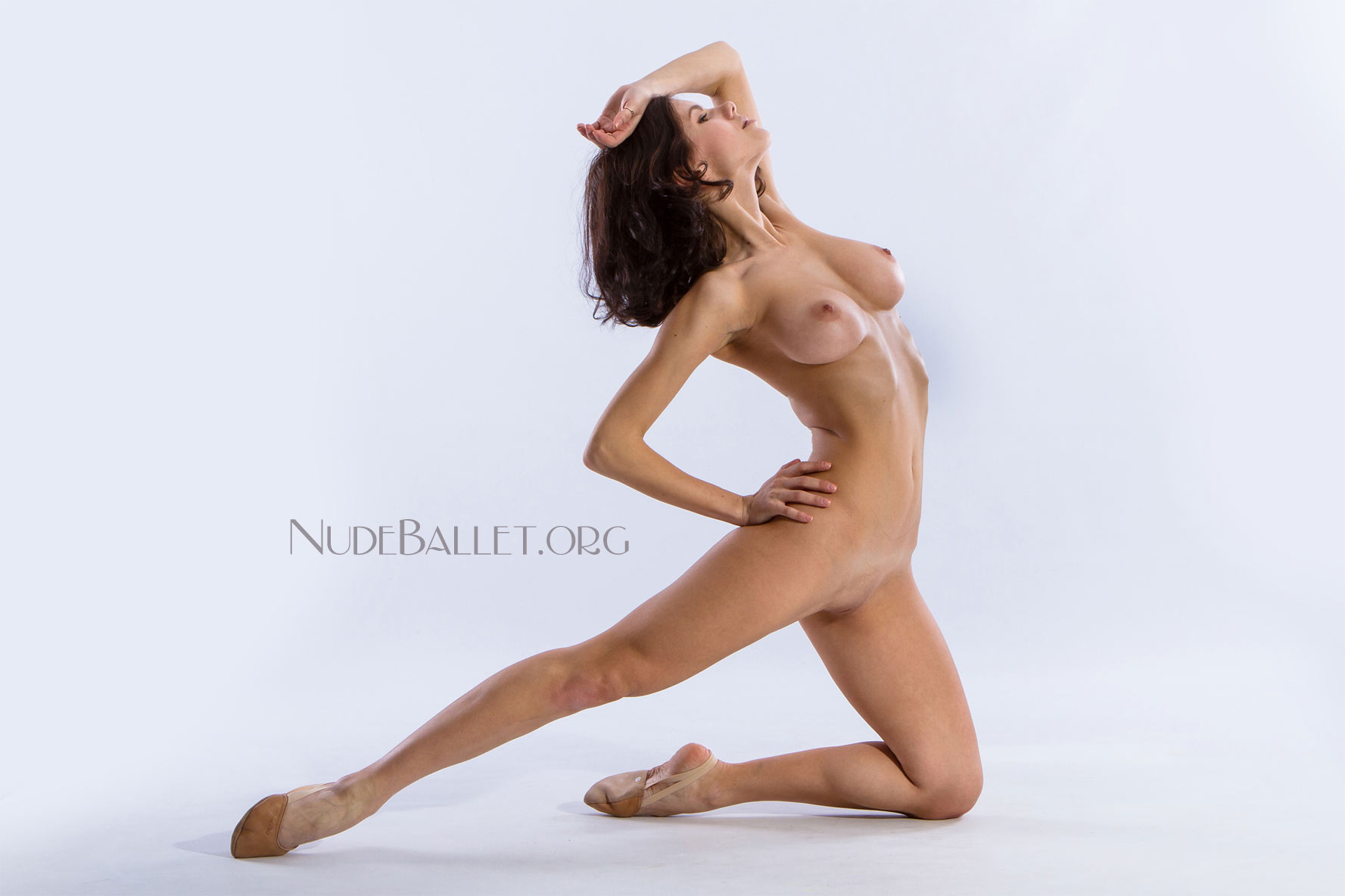 Nude Ballet Girls Dance In Different Flexible Positions-3708